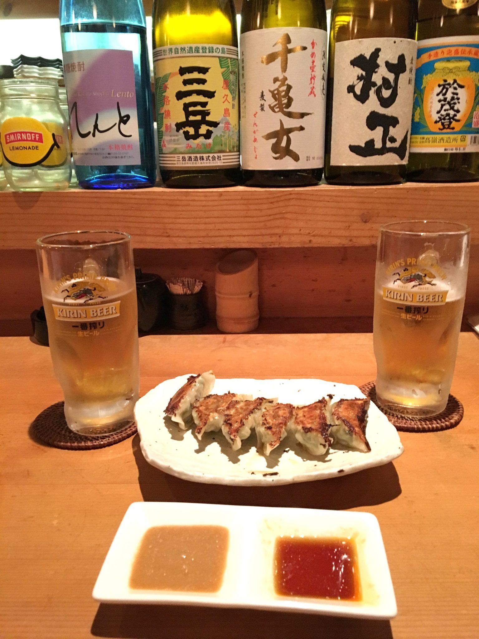 comida de japón gyoza