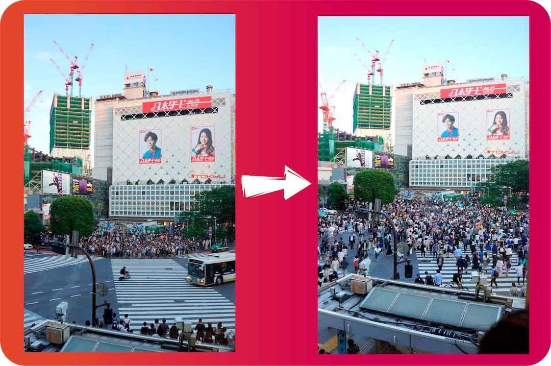 Shibuya gente cruzando
