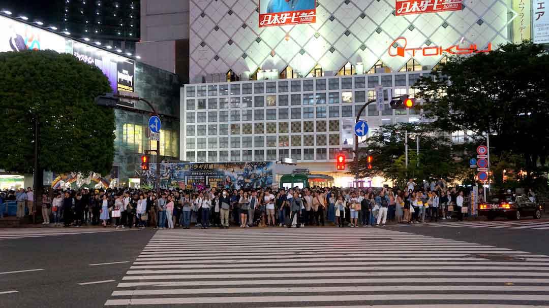 Tokio Cruce Shibuya de Noche