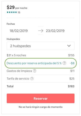 Airbnb Descuento Reserva Anticipada