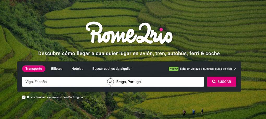 Rome2Rio para planificar tu viaje