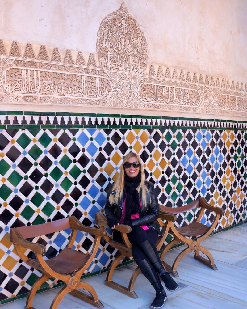 Qué visitar en Granada Alhambra Azulejos
